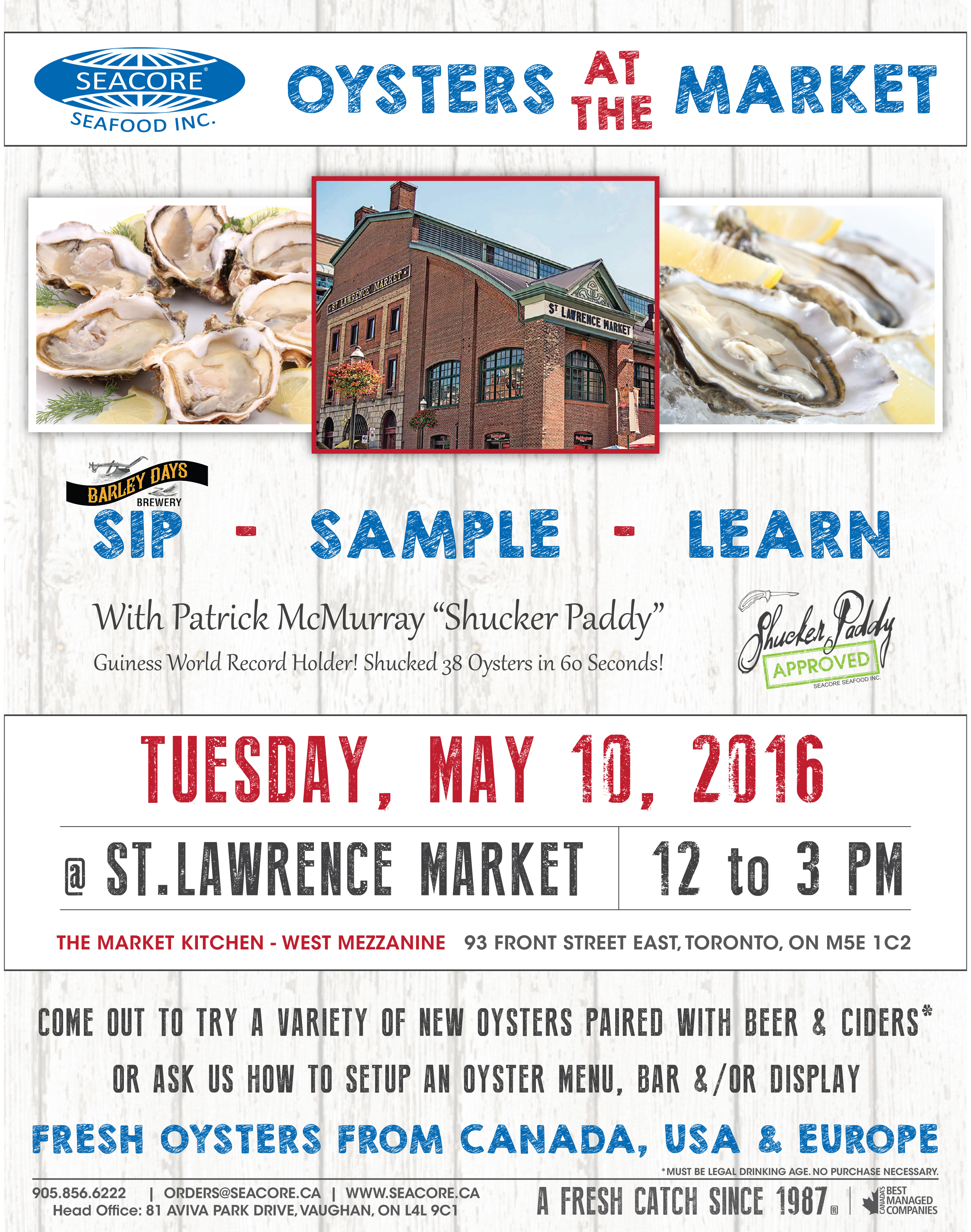 A fresh catch feature fish seafood 2016 05 01to07 for Lawrence fish market menu